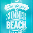 Beautiful Seaside View Poster. Vector background. With Typography — Stok fotoğraf