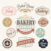 Vintage Retro Bakery Badges And Labels — Stock Photo