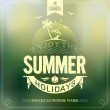Enjoy The Summer Holidays Typography Background For Summer — Stock Photo