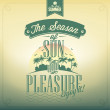 The Season Of Sun And Pleasure Typography Background For Summer — Foto Stock