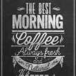 Premium Quality Coffee Typography Background On Chalkboard — Stock Photo