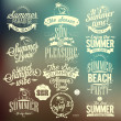 Retro Elements For Summer Calligraphic Designs — Stock Photo