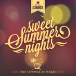 Sweet Summer Nights Typography Background For Summer — Stock Photo