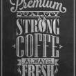 Premium Quality Coffee Typography Background On Chalkboard — Stock Photo #28463589