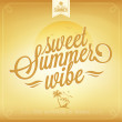 Sweet Summer Wibe Typography Background For Summer — Stock Photo