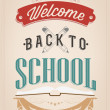 Back To School Typography Background — Stock Photo