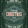 Vintage Christmas And New Year Background — Foto de stock #34981195