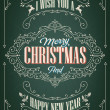 Vintage Christmas And New Year Background — Stockfoto #34981195