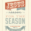 Vintage Christmas Typographical Background — Stock Photo