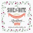 Stock Photo: Save The Date, Wedding Invitation Card