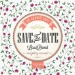 Save The Date, Wedding Invitation Card — Stock Photo