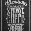 Premium Quality Coffee Collection Typography Background On Chalkboard — Stockfoto