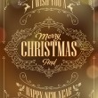 Vintage Christmas And New Year Background — 图库照片 #34983171