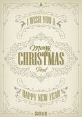 Vintage Christmas And New Year Background — Stock Photo