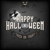 Happy halloween typografische hintergrund — Stockfoto