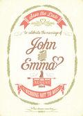Save The Date Wedding invitation Card — Stockfoto