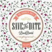 Save The Date, Wedding Invitation Card — Stock Photo