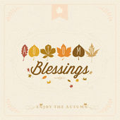 Autumn Blessings Vintage Typographical Background — Stock Photo