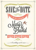 Save The Date, Wedding Invitation Card — Stockfoto