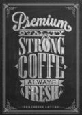 Premium Quality Coffee Collection Typography Background On Chalkboard — Stock Photo