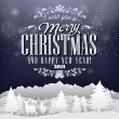Funny Vintage Paper Christmas Elements Background With Typography — Photo #35136387