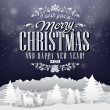 Funny Vintage Paper Christmas Elements Background With Typography — Foto Stock #35136387