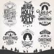 New Year Retro Icons, Elements And Illustration Set — Stock Photo