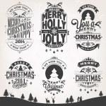 New Year Retro Icons, Elements And Illustration Set — Stock Photo #40502489