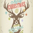 Vintage Christmas Typography Background — Stock Photo