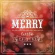 Foto Stock: Vintage Christmas Background With Typography