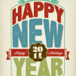 Stock Photo: Vintage New Year Background With Typography