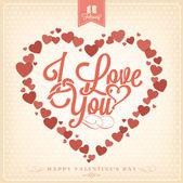 Happy valentine's day achtergrond met hart — Stockfoto