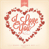 Happy Valentine's Day Background With Hearts — Stock Photo