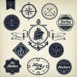 Retro Nautical Badges And Labels — Stock Vector #42045065