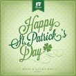 Saint Patrick's Day Typographical Background — Stock Vector
