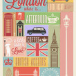 Retro style poster with London — Stock Vector #42045997