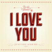 Felice giorno di san valentino scritte a mano — Vettoriale Stock