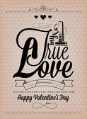 Happy Valentine's Day Hand Lettering — Vector de stock