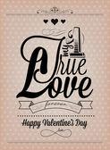 Счастливый день Святого Валентина ручной надписи — Cтоковый вектор