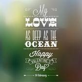 Feliz dia dos namorados mão lettering - fundo tipográfico — Vetorial Stock