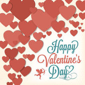 Happy Valentine's Day Background With Hearts — Stock Vector
