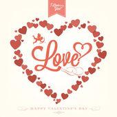 Feliz dia dos namorados com corações fundo — Vetorial Stock