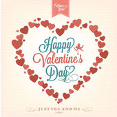 Felice giorno di san valentino sfondo con cuori — Vettoriale Stock