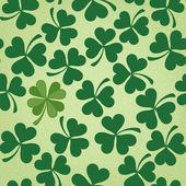 Cloverleaf Seamless Saint Patrick's Day Background — Stock Vector