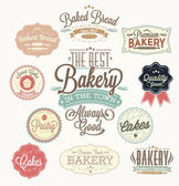 Etichette e distintivi di panetteria retrò vintage — Vettoriale Stock