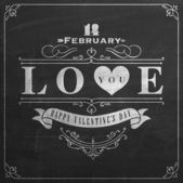 Feliz dia dos namorados mão lettering — Vetorial Stock
