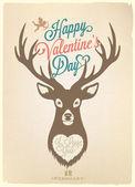 Szczęśliwy valentine's day strony napis — Wektor stockowy