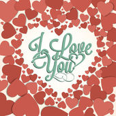 I Love You Background With Hearts — Stock Vector