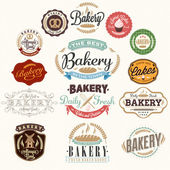 Vintage Bakery Badges And Labels — Stock Vector