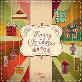 Christmas Retro Background — Stock Vector